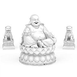 弥勒佛雕像模型