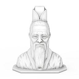 孔子雕像模型