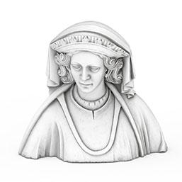 皇后石膏像模型