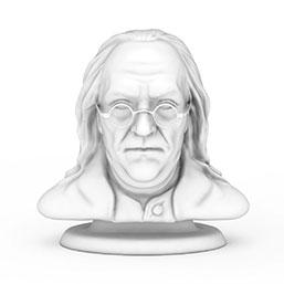 本杰明富兰克林人物雕像模型