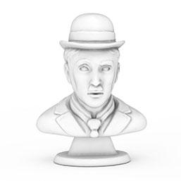 卓别林小丑雕像模型