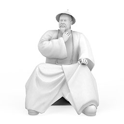 林则徐雕像模型