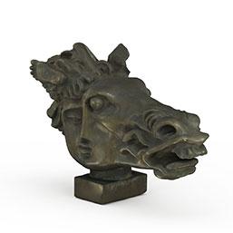 人头马雕塑模型