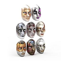 节日美女面具模型