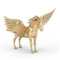 天马雕塑模型