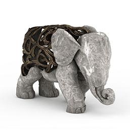 大象雕塑模型