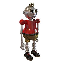 卡通机器人模型