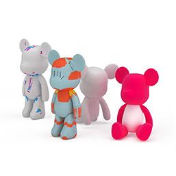 暴力熊玩偶模型