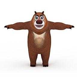熊二玩具模型