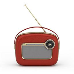 红色收音机模型