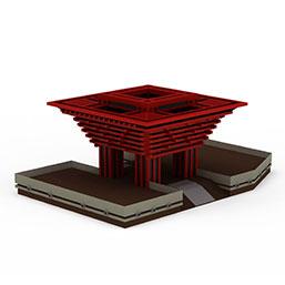 中国馆模型