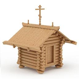 小木屋模型