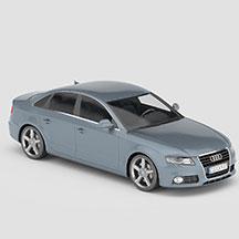 蓝灰色奥迪A4模型