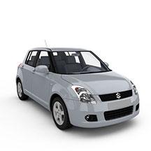 银灰色铃木汽车模型