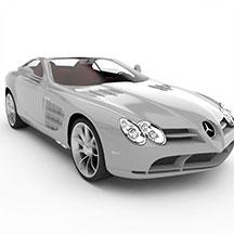 银白色奔驰汽车模型