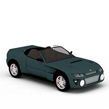 绿色敞篷车模型