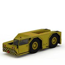 黄色卡车模型