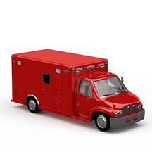 高档红色房车模型