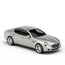 白色轿车模型