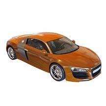 橙色汽车模型