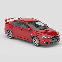 红色三菱四门汽车模型