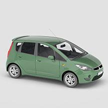 绿色三菱COLT汽车模型
