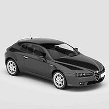黑色阿尔法·罗密欧汽车模型