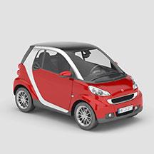 红色smart汽车模型