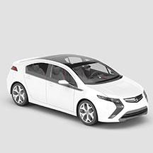 白色欧宝汽车模型