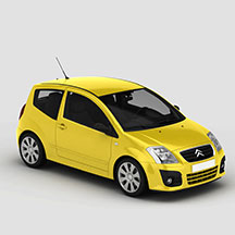黄色东风雪铁龙模型