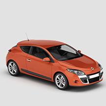 橘色雷诺汽车模型