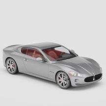 银灰色玛莎拉蒂模型