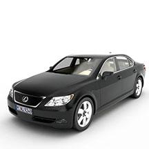 黑色雷克塞斯汽车模型