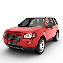 红色兰德路虎汽车模型