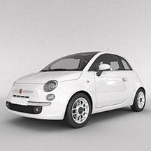 白色菲亚特汽车模型