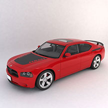 红色道奇模型