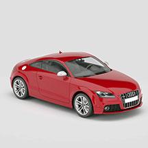 红色奥迪TT模型