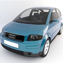 蓝色奥迪汽车模型TT模型