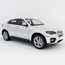 白色宝马x6模型
