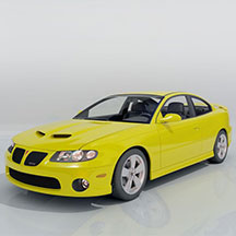 新款黄色庞蒂亚克模型