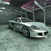 银白色保时捷跑车模型