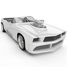 白色BMWgablota模型