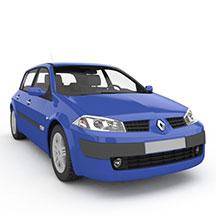 蓝色雷诺梅甘娜汽车模型