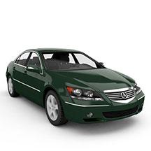 绿色讴歌RL汽车模型