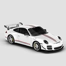 白色保时捷GT3RS模型