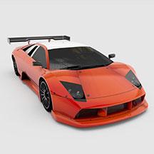 橘色兰博基尼模型