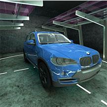 蓝色BMWX5E70模型