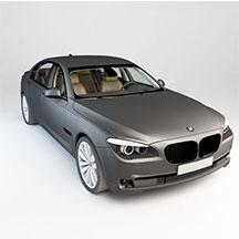 银灰色BMW7L模型