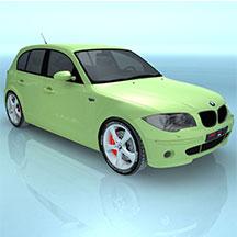 绿色BMW1SER模型