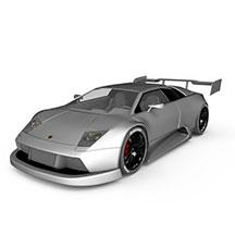 银灰色GTR模型